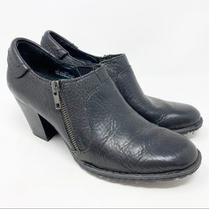 Born heeled ankle booties